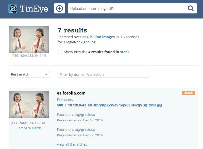 Tineye - Outil de recherche d'images similaires